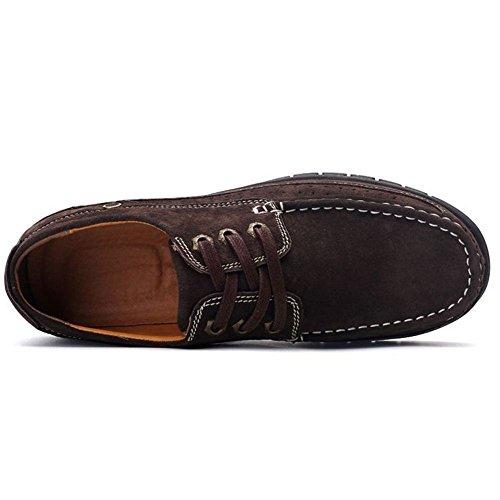 Coolcept Hommes Mocassins Bottes Chaussures Mode Chaussures À Lacets Marron Foncé