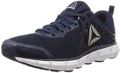 Reebok Hexaffect Run 5.0, Chaussures de Running Compétition Homme Bleu (Collegiate Navy/white/pewter)