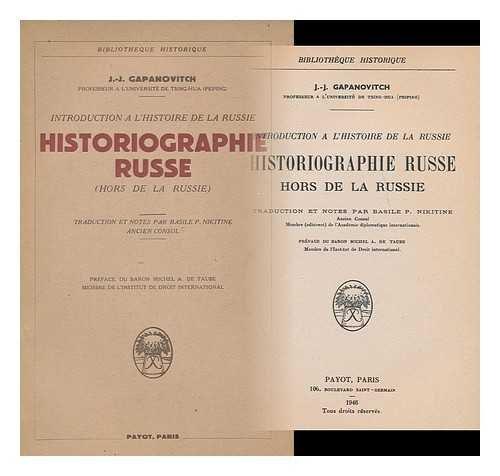 Historiographie Russe: Hors de la Russie