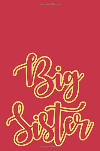 Big Sister: Cardinal and Straw Designer College Ruled Lined Blank Notebook Journal Notepad