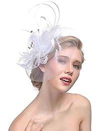 Liuxiaomiao Fascinator Net Veil Veil Wedding Linen Tea Top Tiara Nuziale  Fascia per Capelli (Color 7135a07bb4df
