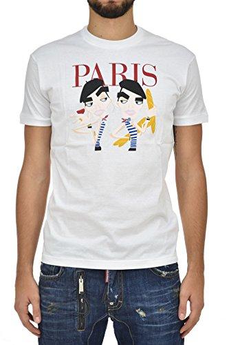 DSQUARED2 Cotton T-shirt White Men's New - Size: M, occasion d'occasion  Livré partout en Belgique