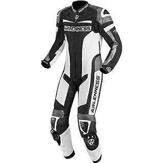 Arlen Ness Zoldar 1-Teiler Motorrad Lederkombi 50 Schwarz/Weiß/Grau