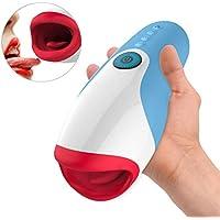 Masajeador Masculino Eléctrico Masturbadores Automático Masturbádor para hombres con Calor y función de succión como boca con 10 modos de vibración