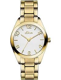 s.Oliver Damen-Armbanduhr XS Analog Quarz Edelstahl SO-3050-MQ