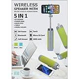 VISHVASTAR Multifunctional Bluetooth Speaker Selfie Stick with Portable Power Bank, Wireless Self Timer
