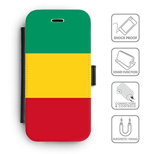 Delle cellule Phone Card Slot cassa del raccoglitore di cuoio // V00001067 Guinea Paese Nazionale (Pronto Basamento Della Bandiera)