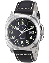 Zeno Watch Basel Men's Automatic Watch Carre' OS Pilot 3554-a1 with Leather Strap
