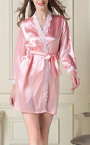 GHFDSJHSD Frauen Nachthemden Sexy Babydoll Chemise Kleid Nachtwäsche, 175 (XXL) - Charmeuse Babydoll Set