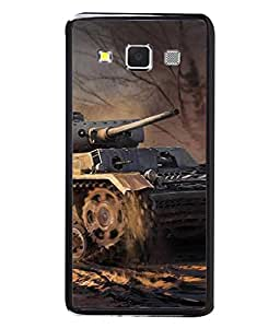Fuson Designer Back Case Cover for Samsung Galaxy A7 (2015) :: Samsung Galaxy A7 Duos (2015) :: Samsung Galaxy A7 A700F A700Fd A700K/A700S/A700L A7000 A7009 A700H A700Yd (Sand War Tank Bomb Country India Trees)