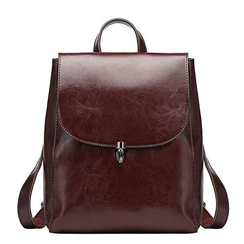 H-O Kuh Leder Rucksack Geldbörse große Kapazität stilvolle Frauen Tasche für Multi-Way-Umhängetasche Handtasche,A