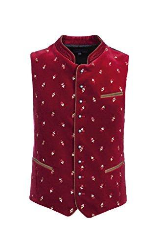 Stockerpoint - Herren Trachten Weste in verschiedenen Farbtönen, Calzado, Größe:58, Farbe:Dunkelrot