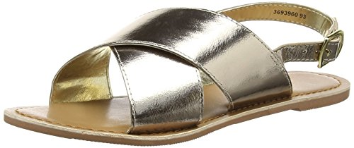 New Look - Fold, Sandali Donna Oro (93 Gold)