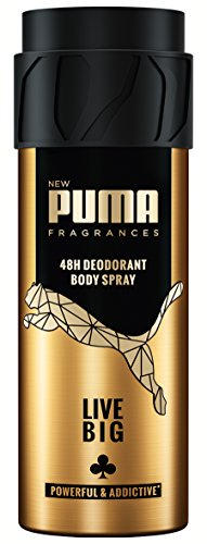 Puma Deodorant Body Spray ohne Aluminiumsalze: Live Big, 6er Pack (6 x 150 ml)