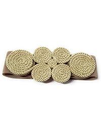 BRANDELIA Cinturón Elástico Mujer Fiesta Estilo Cordón de Seda para Combinarlo Con Vestidos, Faldas o