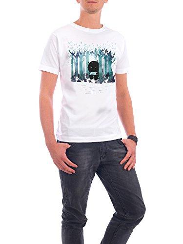 """Design T-Shirt Männer Continental Cotton """"A Quiet Spot"""" - stylisches Shirt Natur von littleclyde Weiß"""