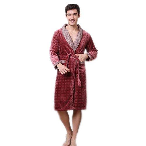 Coppie di inverno abito di flanella gemelli Conjoined accappatoi uomo donna pigiami pigiami Loungewear , brown ,