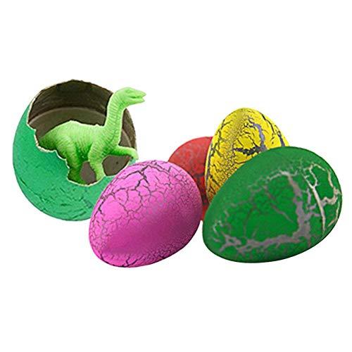 Dinosaurier-Eier 12 Stück Dinosaurier-Eier, Crack Dinosaurier-Eier, die in Wasser schlüpfen, Eier mit Dinosaurier-Figuren in Spielzeug für Jungen/Mädchen, Geburtstag Party Favors (Junge Favors Party Geburtstag)