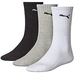 Puma Sports Socks - Calcetines de deporte para hombre, multicolor, talla 39-42, 3 unidades