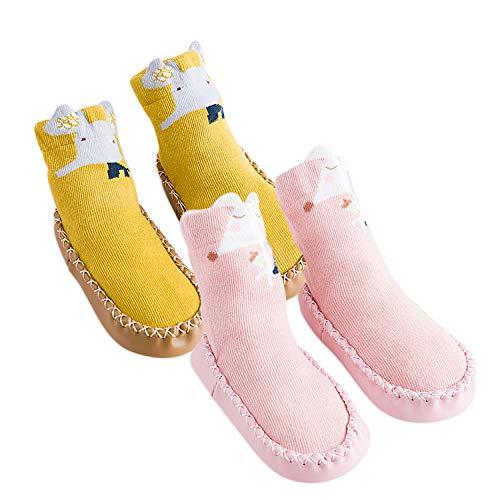 Dorriso 2 paia bambini calzini per e neonati calzini cotone antiscivolo carina animale caldo confortevole