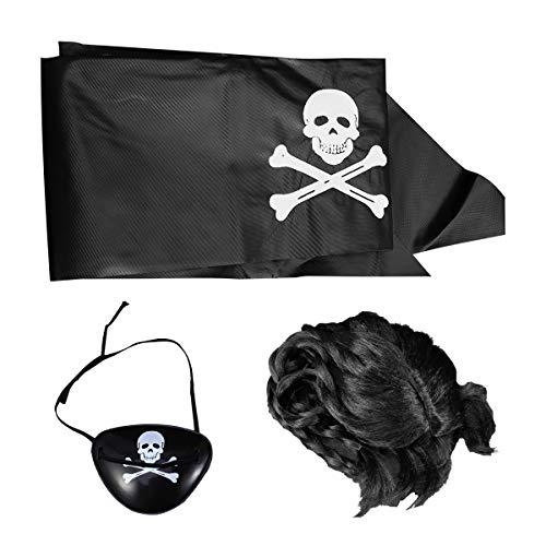Familien Themen Kostüm Mit Baby - Amosfun 3 Stücke Halloween Piratenkostüm Set