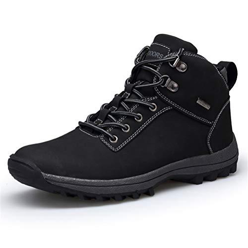AZOOKEN Winterschuhe Herren Damen Wasserdicht Trekking Wanderstiefel Schnee Stiefel mit Warm Gefüttert (6118-black40)
