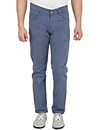 Nimegh Royal Blue Colored Cotton Casual Slim Fit Solid Trouser For Men's