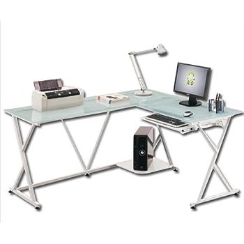 Scrivania angolare portacomputer per ufficio cameretta: Amazon.it ...