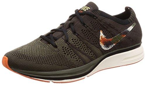 Nike Flyknit Trainers Herren Running Trainers AH8396 Sneakers Schuhe (UK 6 US 7 EU 40, Velvet Brown neutral Olive 202)