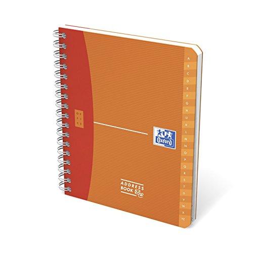 Telefonbuch Alphabetische (Adressbuch Oxford Soli 80 Blatten 120 x 150 mm)