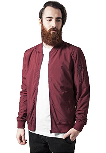 Light Bomber Jacket burgundy M
