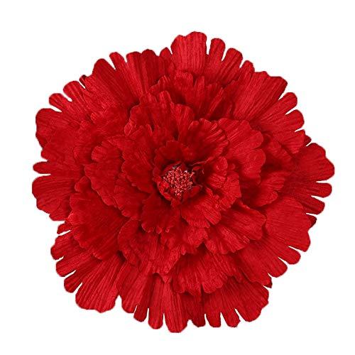 WULIHONG-Flor artificial40 / 50/60 / 80cm Grandes Flores Artificiales Fondo de Boda de peonía Flor Decorativa Ramas Flores de Seda Pared para decoración de hogar 60 cm Rojo