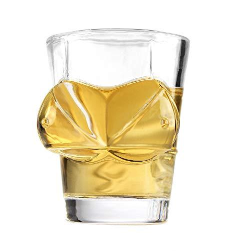 Monsterzeug Sexy Schnapsglas mit Brüsten, Vierteiliges Set, Sexy Frau Shot-Glas, Shotgläser, 4 Stück Sexy 4