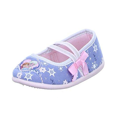 Leomil Kinder Hausschuh FZ005683 Mädchen Ballerina Anna und Elsa Frozen Disney Blau Glitzer, Größe 29 (Elsa-hausschuhe Für Mädchen)
