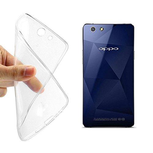 König-Shop Oppo R1x durchsichtige Schutz-Hülle Transparent Silikon Slim Case Cover durchsichtig