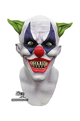 Horror Clown Halloweenschocker Halloween Maske Clownsmaske Clowns (Maske Clown Latex)