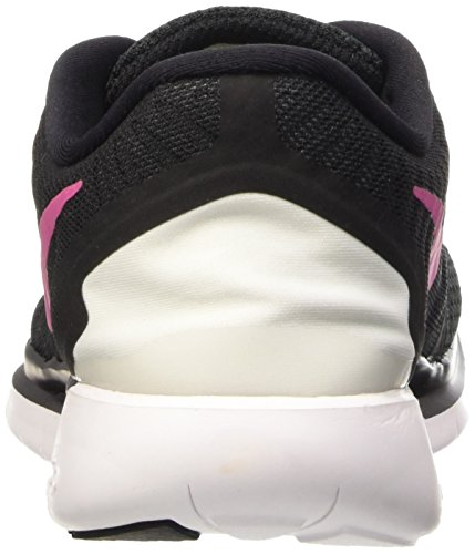 Nike Wmns Free 5.0 - Scarpe Sportive Donna Multicolore (noir / Rose Vif-blanc)