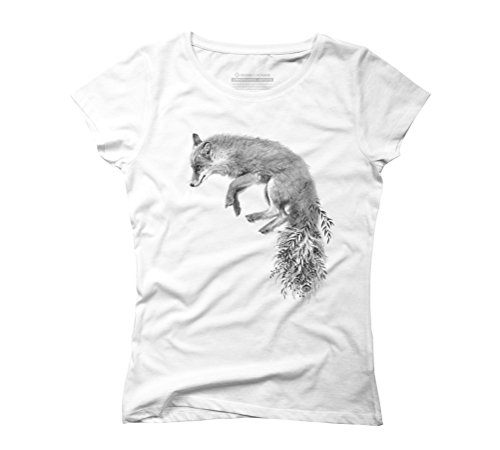 Fox Women's 2X-Large White Graphic T-Shirt - Design By Humans