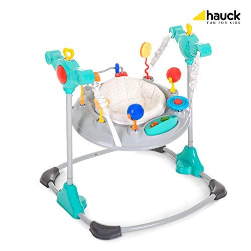 Hauck Spielcenter Jump-A-Round - ab 6 Monate, höhenverstellbar, große Spielstation, Grau / Blau (hearts) (Nemo Findet Baby)