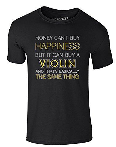Brand88 - Money Can Buy A Violin, Erwachsene Gedrucktes T-Shirt Schwarz