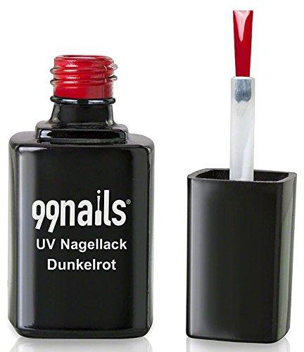 99nails UV Nagellack - Dunkelrot, 1er Pack (1 x 12 ml)