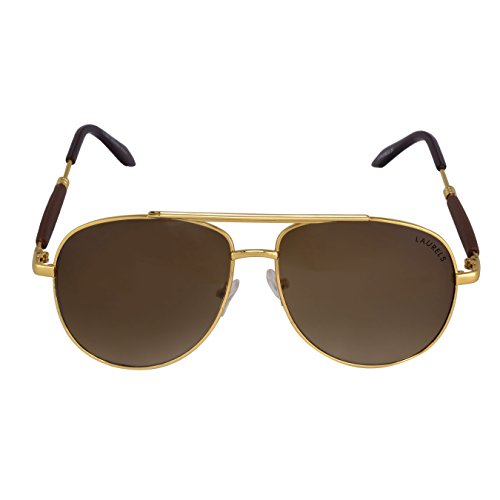 Laurels Fort Brown Rectangular Men Sunglass- LS-FORT-090606