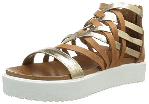 Inuovo 6246 Damen Sandalen Braun - Marron (Gold/Coconut)