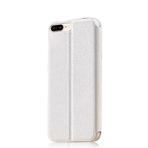 QianYang Custodia IPhone 8 Plus Cover IPhone 8 Plus 5.5 pollice Puro Colore Modello Design Con Cinturino da Polso Magnetico Snap-on Book Style Custodie Case in pelle Protettiva Flip Case Cover bianca