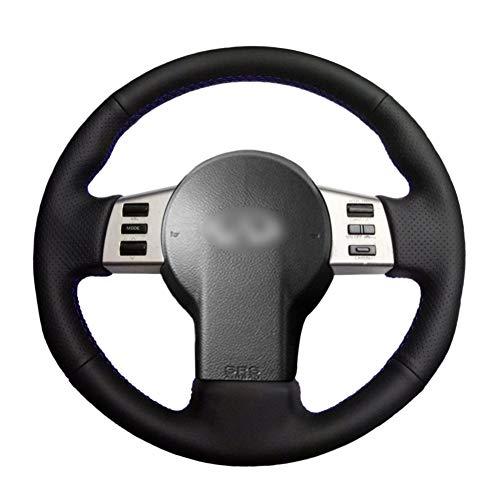 SKALDHLA Handgenähte Schwarze PU-Kunstleder-Auto-Lenkradabdeckung für Infiniti FX FX35 FX45 2003-2008 Nissan 350Z 2003-2009 (Infiniti 2003 Fx35)
