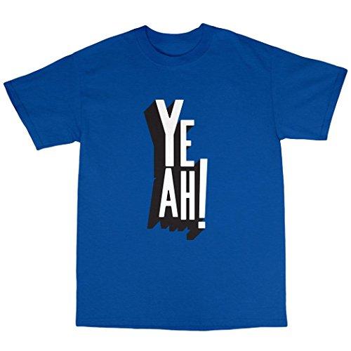 Yeah! T-Shirt 100% Baumwolle Königsblau