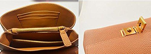 Retro zaino obliquo, zaino obliquo della catena, borse, borsa quadrata casuale, mini borsa a tracolla ( Colore : Nero ) Beige