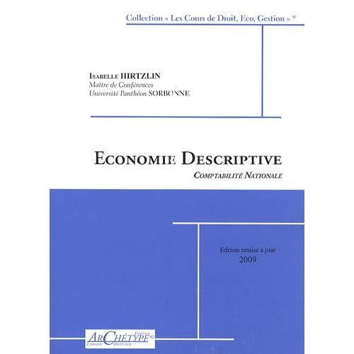 Economie descriptive : Comptabilité nationale