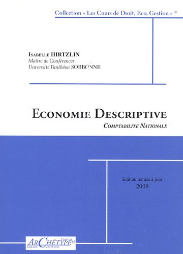 Economie descriptive : Comptabilité nationale