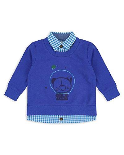 The Essential One - Bebé Infantil Niños 2 en 1 Sudadera y Camisa - Azul - 12-18m - EOT475